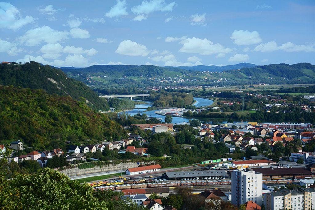 Марибор Словения река Драва