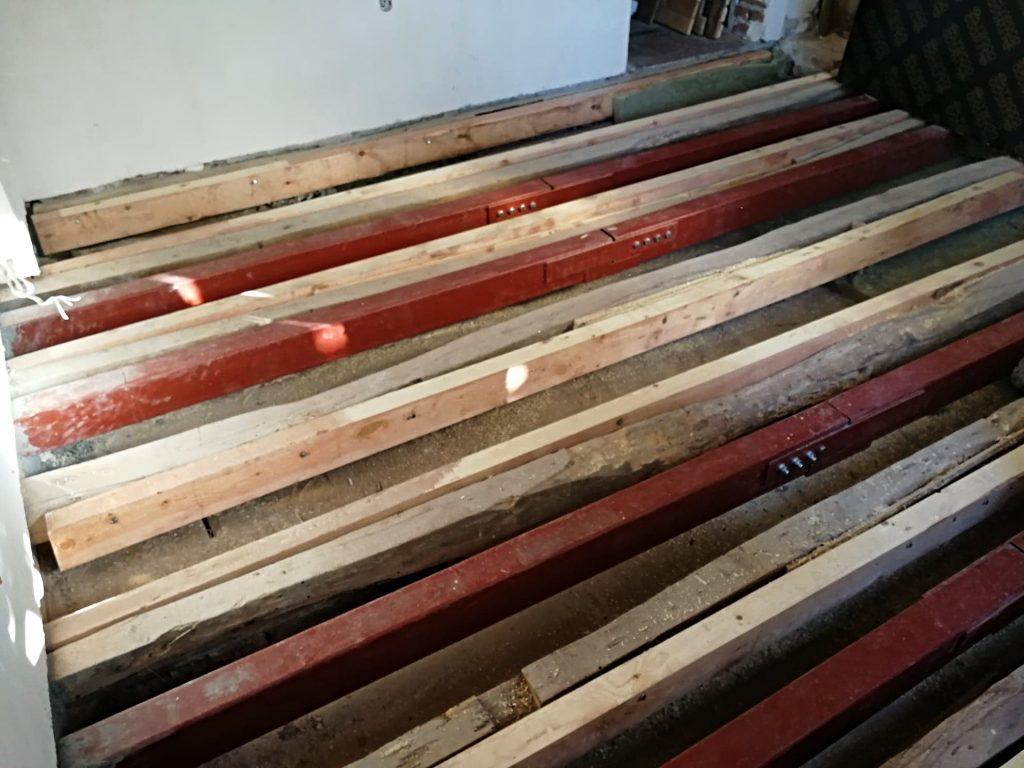укрепване на гредоред с метални греди